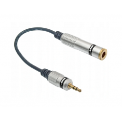 Adapter wtyk Jack 3,5st/gniazdo Jack6,3st 7187 Vitalco