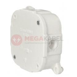 Puszka biała n/t 80x80x30 IP44 zacisk. 074-51 ViPlast