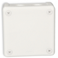 Puszka biała z/zacisk 90x90x25 n/t 042-51 Wikat