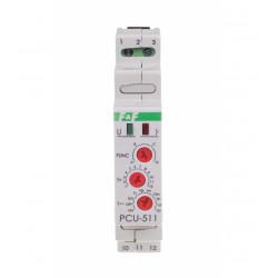 Przekaźnik czasowy PCU-511 1P 8A 230V wielofunkcyjny F&F