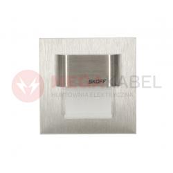 Oprawa schodowa LED Tango mini Alu. biała zimna 0,4W Skoff