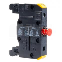 Styk pomocniczy 1R na szynę ST221-1-SZ czerwony SPAMEL