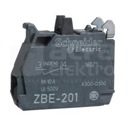 Styk pomocniczy 1Z montażowy czołowy ZBE101 zielony SCHNEIDER ELECTRIC