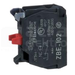 Styk pomocniczy 1Z montaż czołowy ZBE102 czerwony SCHNEIDER ELECTRIC