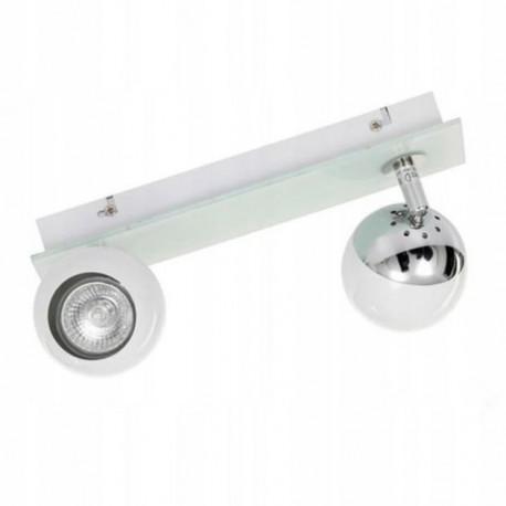 Lampa MATT-2R W/CH white-chrome GU10 2x50W Vitalux