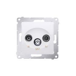 Simon54 Gniazdo antenowe R-TV-SAT końcowe DASK.01/11 biały