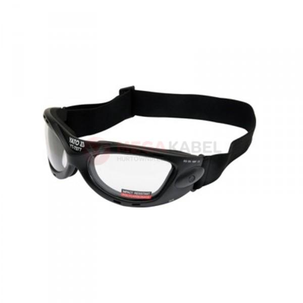 Okulary ochronne bezbarwne z gumką YATO YT-7377