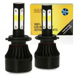 Zestaw żarówek LED H7 S4 COB 80W 16000 lm 6000K INTERLOOK