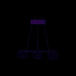 Lampa EBRO-3 silver zwis III G9 3x40W Vitalux