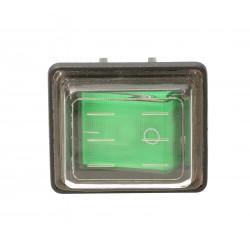 Przełącznik kołyskowy W4.1.8B czarno zielony 0/1