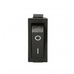 Przełącznik kołyskowy czarny, napis 230V TES-13