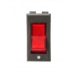 Przełącznik kołyskowy podświetlany czerwony 230V TES-11