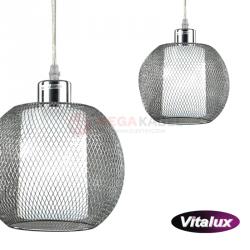 Lampa JADE-1 silver siatka zwis I 3xE27 Vitalux