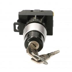 Przycisk 2 położeniowy pokreętło na klucz 1 zwrotny ST22-SAA-10 Spamel