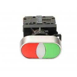 Przycisk sterowniczy 22mm czerwono zielony 2Z ST22-2KL-20- z samopowrotem SPAMEL
