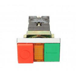 Przycisk podwójny zielono czerwony zabudowany NYKK8465 TRACON