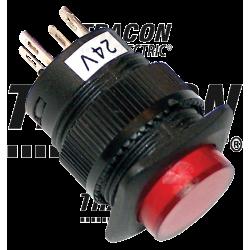 Przycisk z lampką sygnalizacyjną mini czerwony 12V MNG-012R TRACON