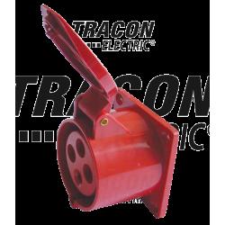 Gniazdo siłowe do zabudowania proste 32A 400V 3P+F Tracon