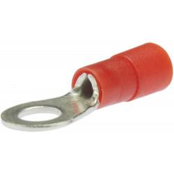 Końcówka kabla żeńska z izolacją ZSY 6.3-1 czerwona opakowanie 100 sztuk ERGOM