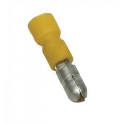 Końcówka wtykowa miedź cynow 6mm PVC żółta SH4 TRACON