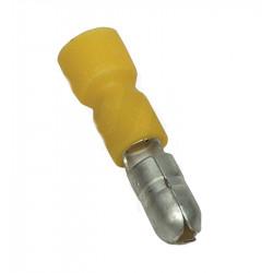 Końcówka gniazda miedźiana cynowa 6mm PVC żółta SHA4 TRACON
