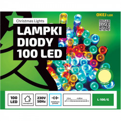 Lampki choinkowe LED L-100/G ciepła 4,95m OKEJ LUX
