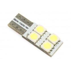 Żarówka samochodowa LED W5W T10 4 SMD 5050 CANBUS