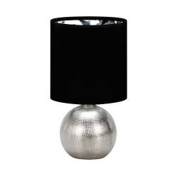 Lampka nocna PERLO silver/black E14 03290 Struhm