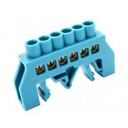 Szyna izolowana niebieska 6P DIN 6x9 NPE-B6-6 Tracon