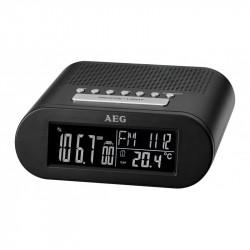 Radiobudzik AEG MRC4145F black z zegarem AEG