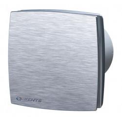 Wentylator osiowy 100 aluminium szczotkowane i timer LDAT