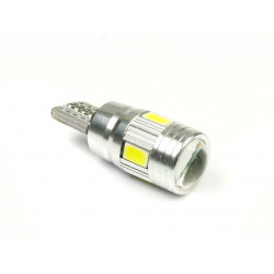 Żarówka samochodowa LED W5W T10 6 SMD soczewka CB INTERLOOK