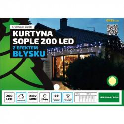 Kurtyna sople LED-200/G/S/5M ciepła 8,75m FLASH