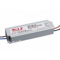 Zasilacz do LED 12V 5A 60W IP67 MW-60-12 Spectrum