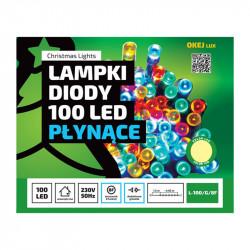 Lampki choinkowe LED L-100/G/8F ciepła 4,95m 8F