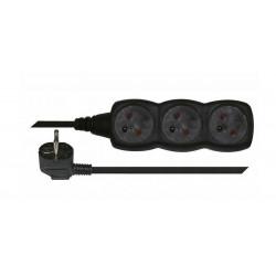Przedłużacz mieszk. 3m 3-GN z/u E0313 czarny Emos