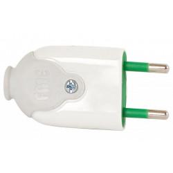 Wtyczka płaska 16A 250V biała FWB 51.220 ELEKTRO-PLAST