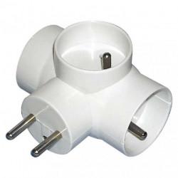 Rozgałęźnik wtyczkowy 3GN z uziemieniem E2010 P0024 biały EMOS