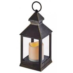 Lampion LED świeczka 24cm 3xAAA ZY2114 czarny Emos
