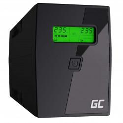 Zasilacz awaryjny UPS 600VA 360W LCD UPS01 GREEN CELL