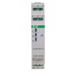 Przekaźnik zaniku asymetrii faz 1P 10A CZF-310 F&F