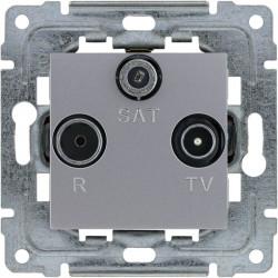 DANTE Gniazdo R-TV-SAT przelotowe inox 454177 KOS