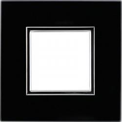DANTE Ramka 1-krotna czarne szkło 4509181 KOS