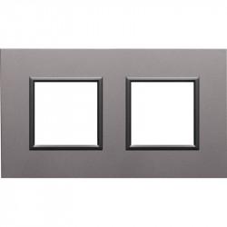 DANTE Ramka 2-krotna aluminium 4542282 KOS