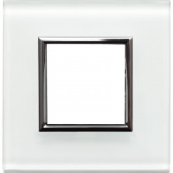 Kos DANTE Ramka 1-krotna szkło white 4502181