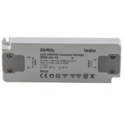 Zasilacz LED slim 12V 20W 1,67A ZNS-20-12 Zamel