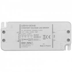 Zasilacz do LED 15W 12V slim LED15-12CV-S Govena
