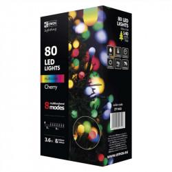Lampki EMOS kulki XMAS multi/cherry 80LED8m ZY1453