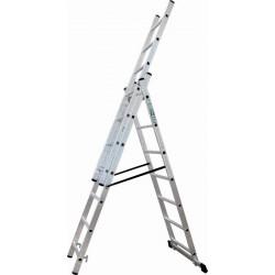 Drabina ALUMINIOWA 3-elementy 6m STALCO 3x11 S-40563