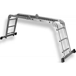 Drabina aluminiowa wielofunkcyjna z podestem 3,4metra S-40230 STALCO